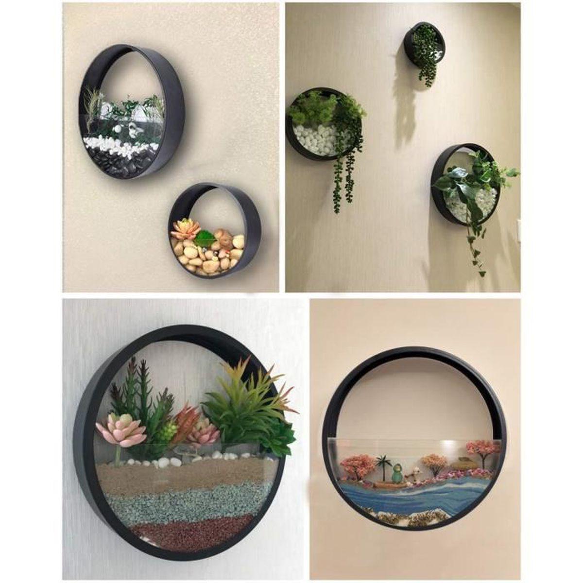 Jardinière À Suspendre Ikea mornbee vase à suspendre rond vase de jardinière succulente pots à fleurs  en métal plantes décoratives-cadeau ensemble de 3