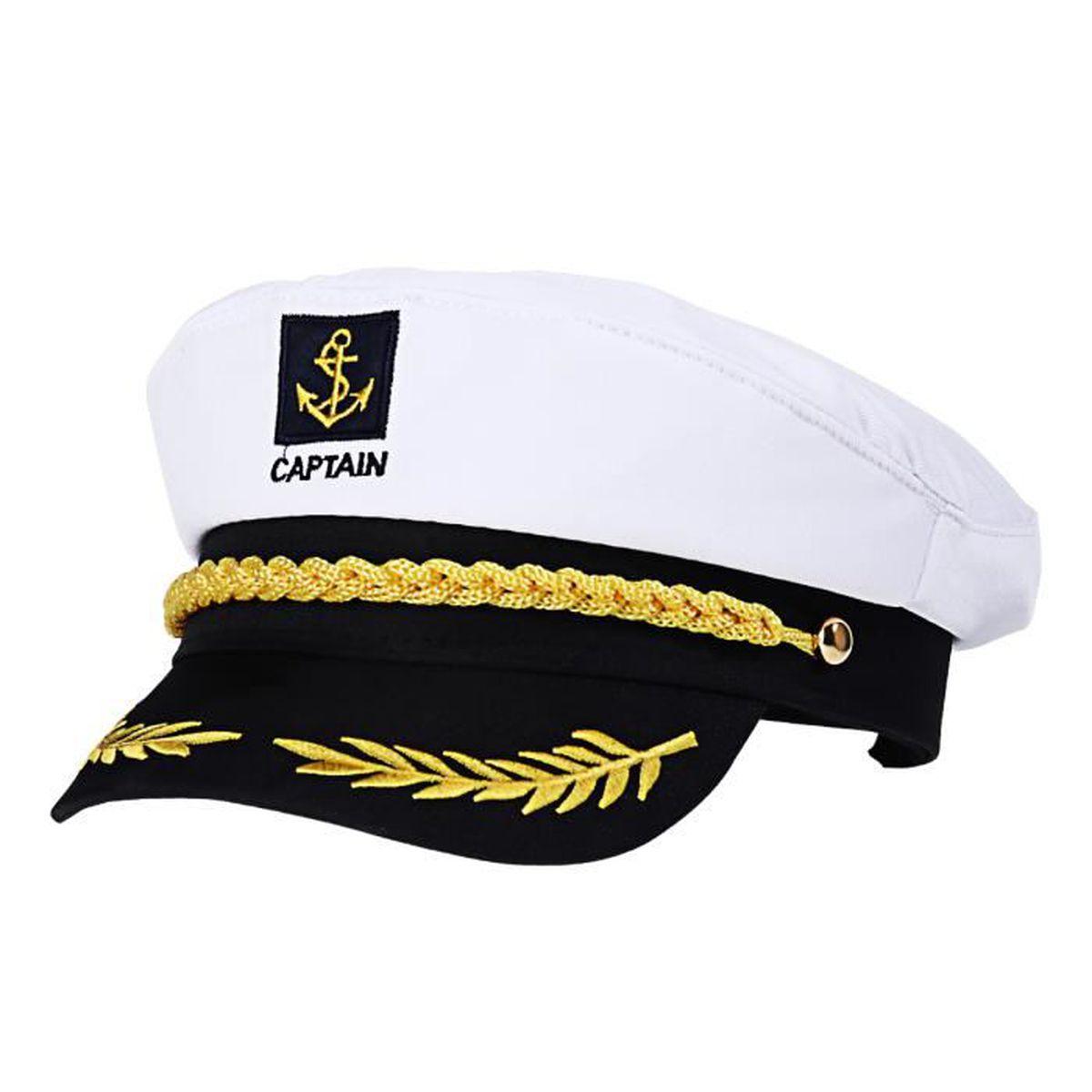 Casquette d/' Amiral de Marin Capitaine,Croisière,Yacht,Marine,Accessoires,Fête