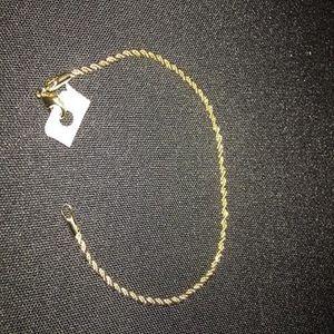 Fashion 925 Sterling Argent Massif Bijoux Corde Chaîne Bracelet Pour Femmes H207