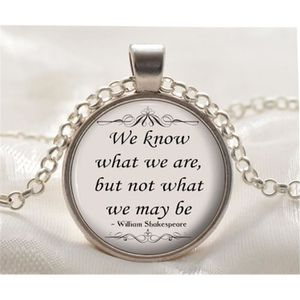 Collier Citation Silver William Shakespeare Pendentif Inspirante 67bfgyYv