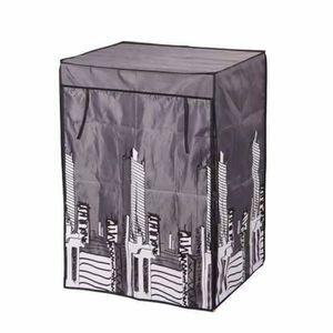 ARMOIRE DE CHAMBRE Housse armoire loft en polyester noir