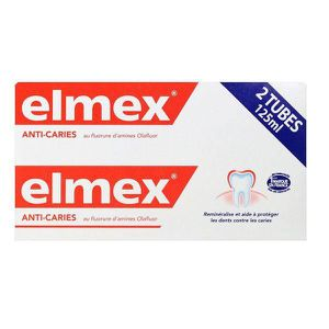DENTIFRICE Elmex Dentifrice Protection Caries Lot de 2 x 75 m