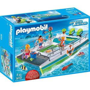 FIGURINE - PERSONNAGE PLAYMOBIL 9233 - Sports & Action - Catamaran avec