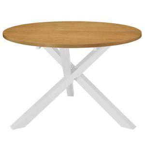 TABLE À MANGER SEULE Table de salle à manger 120 x 75 cm MDF Blanc