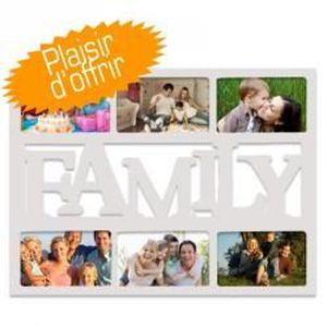 CADRE PHOTO Cadre Multivues Family 6 photos 10x15 cm Blanc