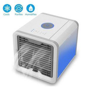 HUMIDIFICATEUR ÉLECT. Mini Climatiseur Mobile - Ventilateur USB & Ra