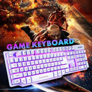 CLAVIER D'ORDINATEUR Clavier Gaming Mécanique USB Clavier LED RGB 104