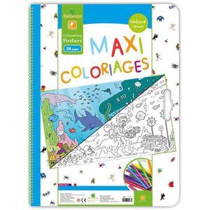 LIVRE DE COLORIAGE SYCOMORE Cahier Maxi Coloriage - Garçon