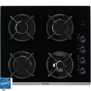 PLAQUE VITROCÉRAMIQUE  BRANDT BPG6413B-Table de cuisson gaz-4 foyers-L 51