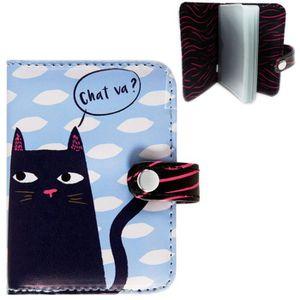 Derri/ère la porte Porte-cartes Folk Black cat