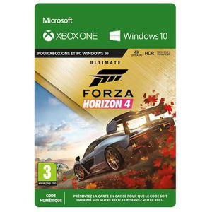 JEU XBOX ONE À TÉLÉCHARGER Forza Horizon 4 Ultimate Edition Xbox One à téléch