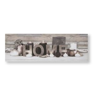 TABLEAU - TOILE Toile lumineuse LED Tranquil Home Blanc Gris 90 x
