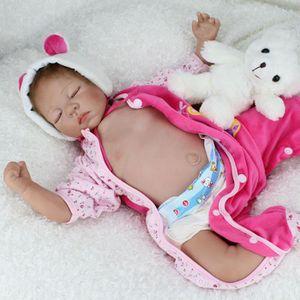 POUPÉE Silicone bébé Reborn poupées bébés dormant vinyle