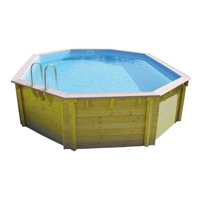 Piscine bois x for Liner piscine diametre 3 50