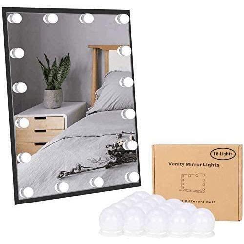 Lirex Vanity Lights Style Hollywoodien Avec Miroir Rglable 16 Dimmable Ampoules 10 Luminosit 3 Modes de Couleur et une Alimen[20514]