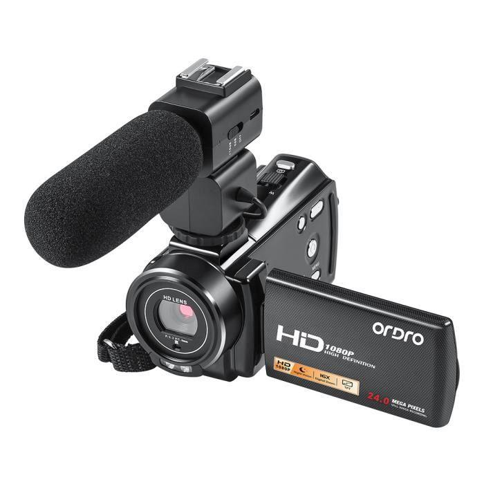 HD 1080P caméscope 16X caméra DV Zoom numérique avec microphone externe@dx353