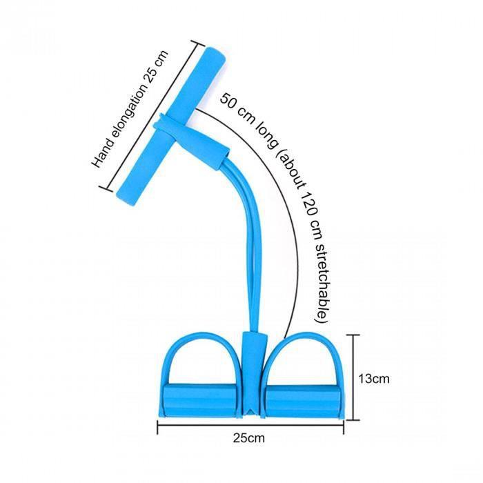 Version Bleu - Chine - Élastique Tirer Cordes Exercice Rameur Ventre Résistance Bande Maison Gymnastique Sport Entraînement Bandes