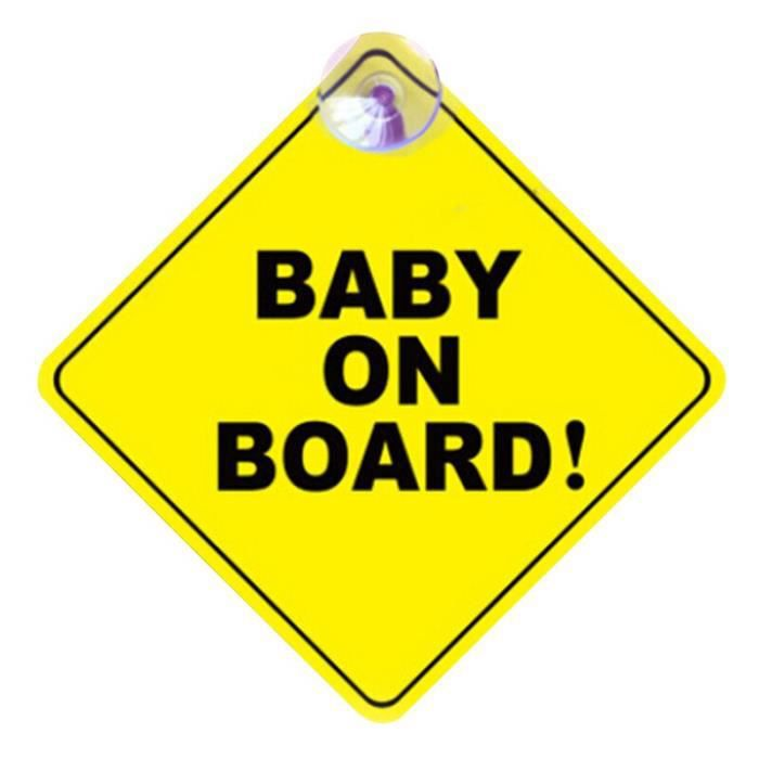 Autocollant de signalisation de sécurité à bord pour bébé, autocollant avec ventouse pour fenêtre de voiture, [6134777]