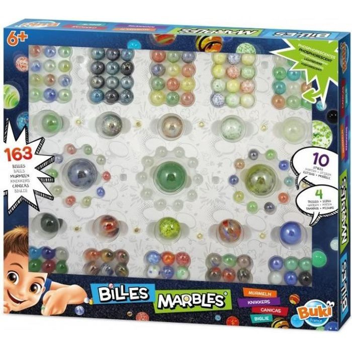Buki - Coffret Billes - 163 billes - Coloris Unique