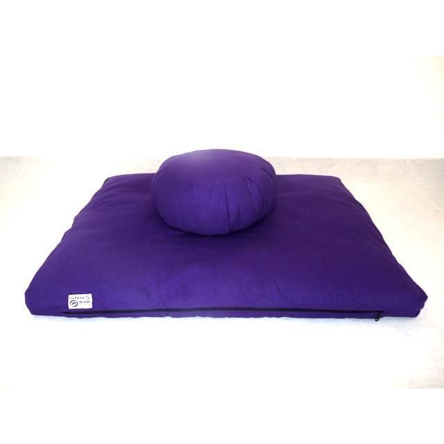 Set zafu + zabuton traditionnels violet
