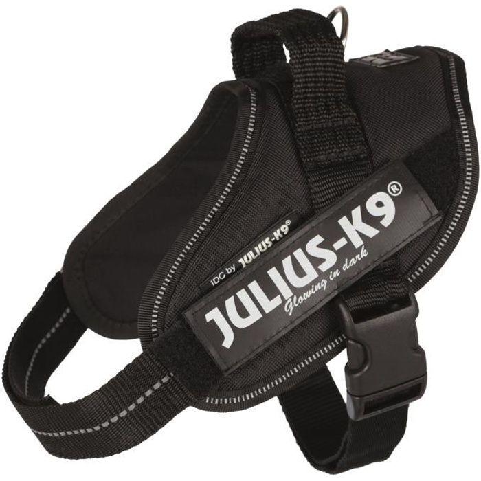 JULIUS-K9 Harnais Power IDC - Mini - M : 49-67 cm-22 mm - Noir - Pour chien