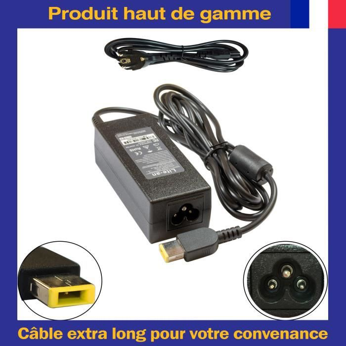 Chargeur Pour Lenovo Adlx45ndc3a Fru 45N0490 00Hm615 Adaptateur Secteur Ordinateur Pc Portable 20V 2.25A 45W