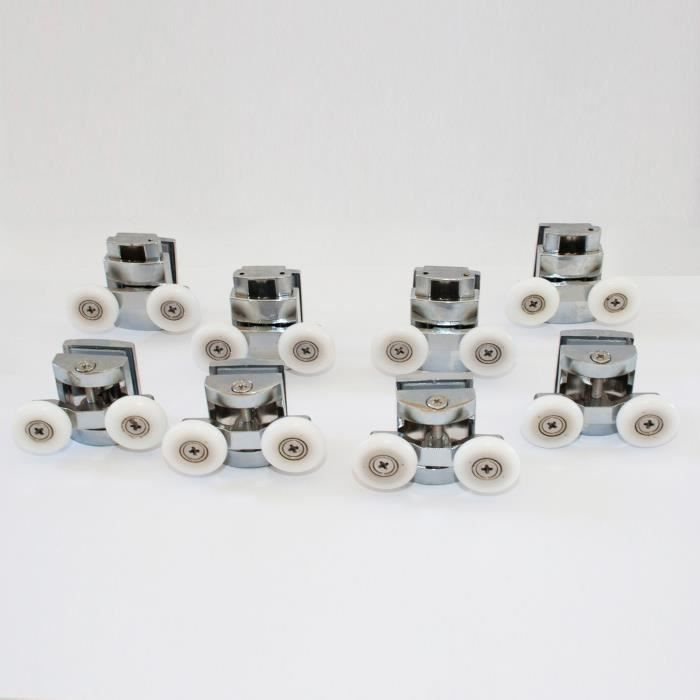 Kit 8 pièces roulettes remplacement douche pour verre porte coulissante Arkansas