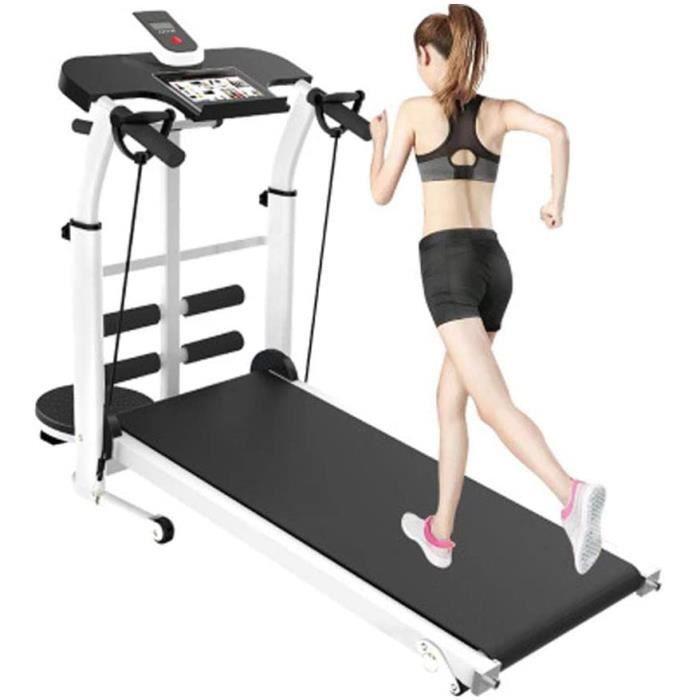 TAPIS DE COURSE Tapis roulant pliable inclinable, tapis roulant m&eacutecanique, jogging et course &agrave pied, programme d'162