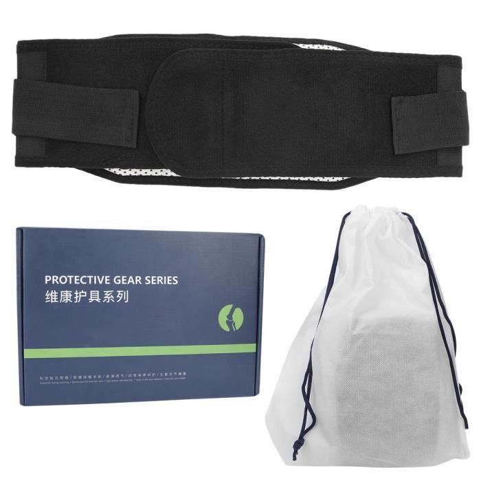 Atyhao ceinture de soutien de taille Ceinture de soutien à la taille aimant chauffant respirant plaque d'acier dos soins lombaires