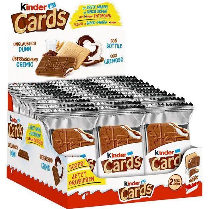 Ferrero Kinder Cards, Spécialité gaufre, 25,6g (Pack de 30)