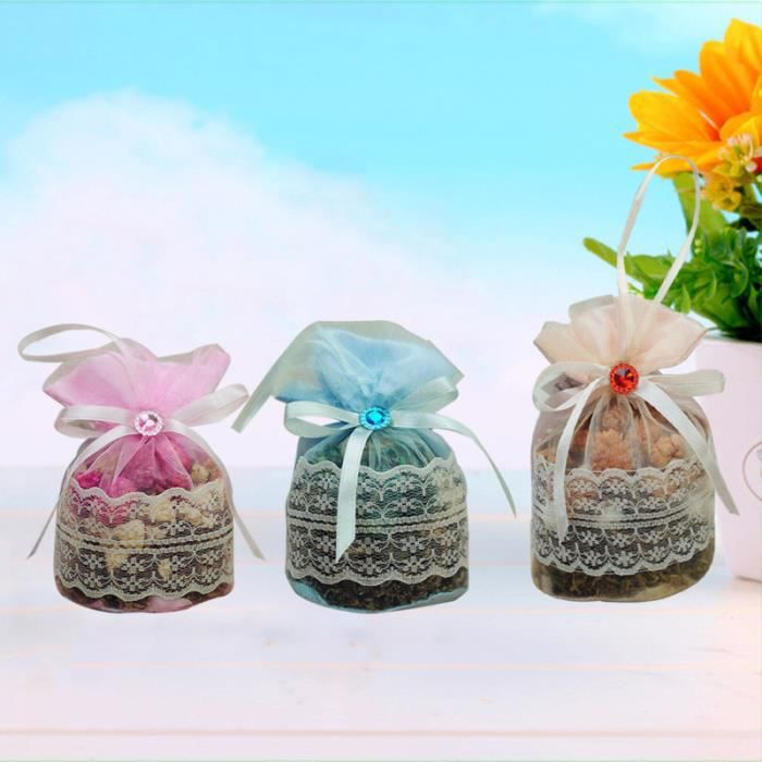 3 pièces Sachet rond encens fleur séchée fraîche emballé sachet fonctionnel pour le goût humide SAC PROTECTION - SACHET