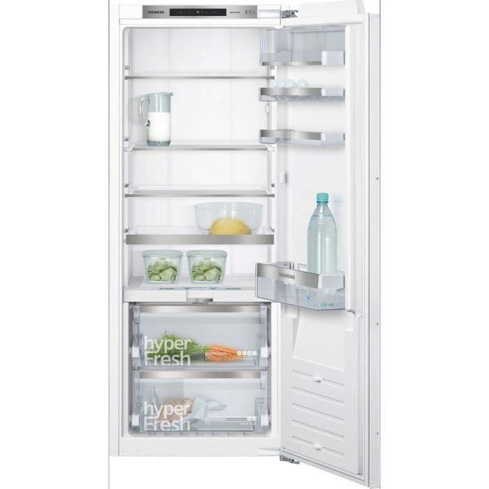 siemens - réfrigérateur 1 porte intégrable à pantographe 222l a++ - ki51fade0