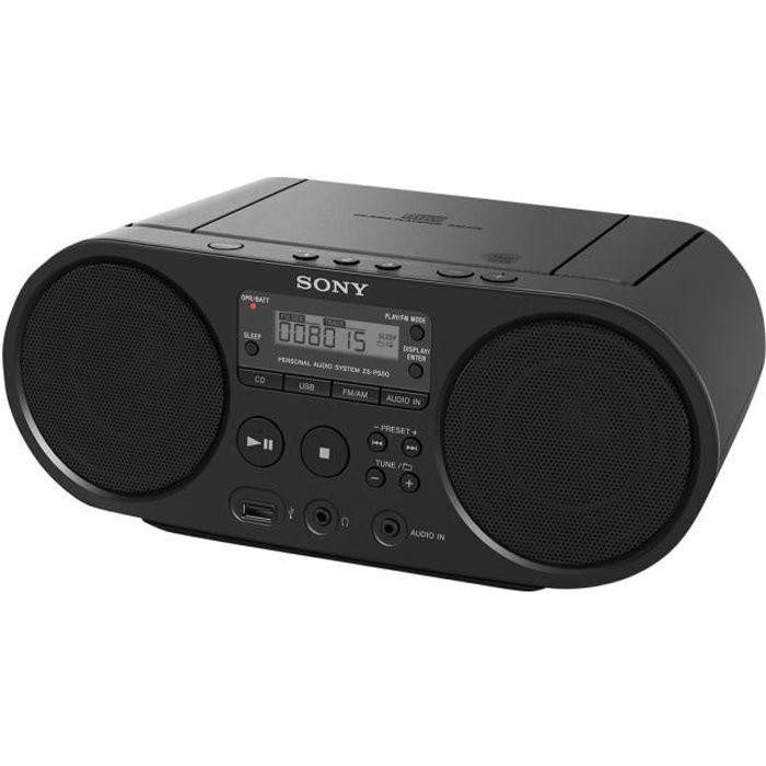 Sony ZS-PS50 Boombox 4 Watt noir