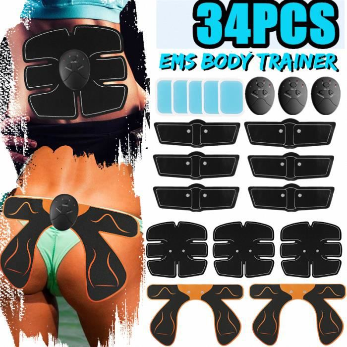 14 Pcs Appareil de Musculation Fitness + 20pcs Replacement Stickers