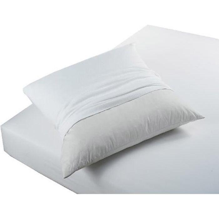 Protège oreiller coton absorbant 60x60 BIEN-ETRE