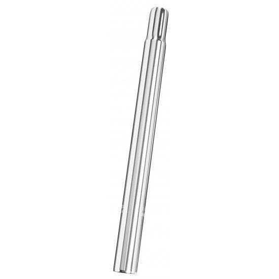 la tige de selle de bougie fixe 25,0 x 350 mm en acier argent