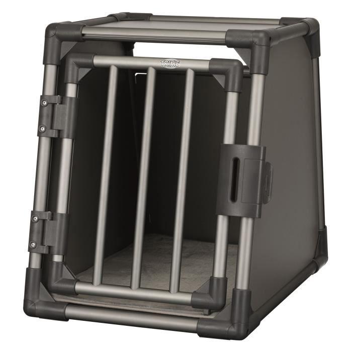 TRIXIE Box de transport - Aluminium - S : 48 x 56 x 61 cm - Gris graphite - Pour chien