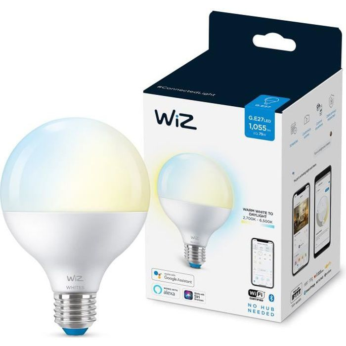 WiZ Ampoule connectée Globe 120 Blanc variable E27 75W