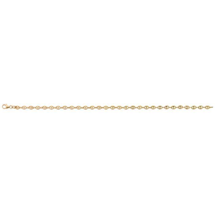 BRACELET - GOURMETTE DIAMANTLY Bracelet grain de cafe or 375/1000° (9 c