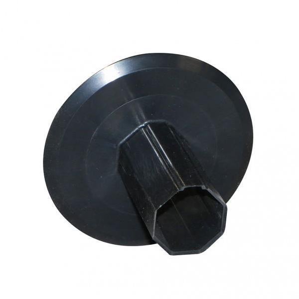 Flasque /Ø155 mm pour tube octogonal 40 mm