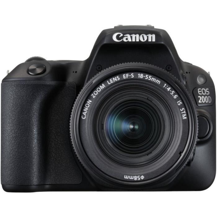APPAREIL PHOTO RÉFLEX Canon EOS 200D Noir + EF-S 18-55mm f/4-5,6 IS STM