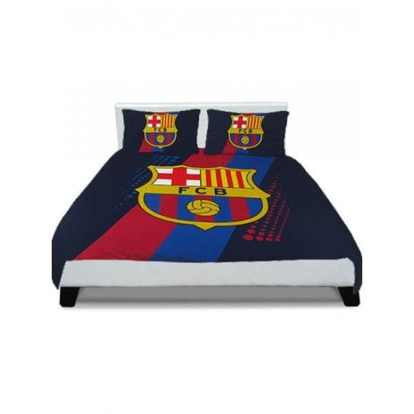 housse de couette fc barcelone 2 places achat vente housse de couette cdiscount. Black Bedroom Furniture Sets. Home Design Ideas