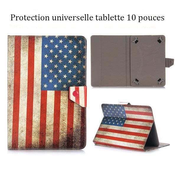 crazy kase etui tablette universel 10 pouces drapeau usa vintage prix pas cher cdiscount. Black Bedroom Furniture Sets. Home Design Ideas