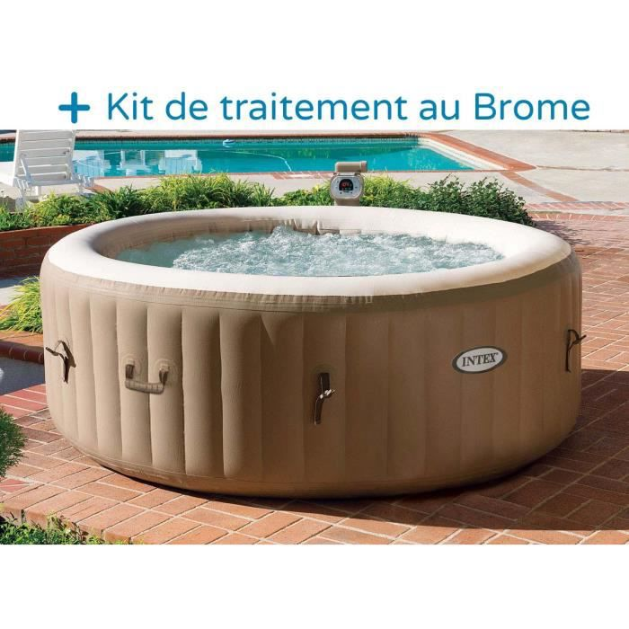 jacuzzi cdiscount Spa gonflable INTEX 4 personnes 120 diffuseurs u2026