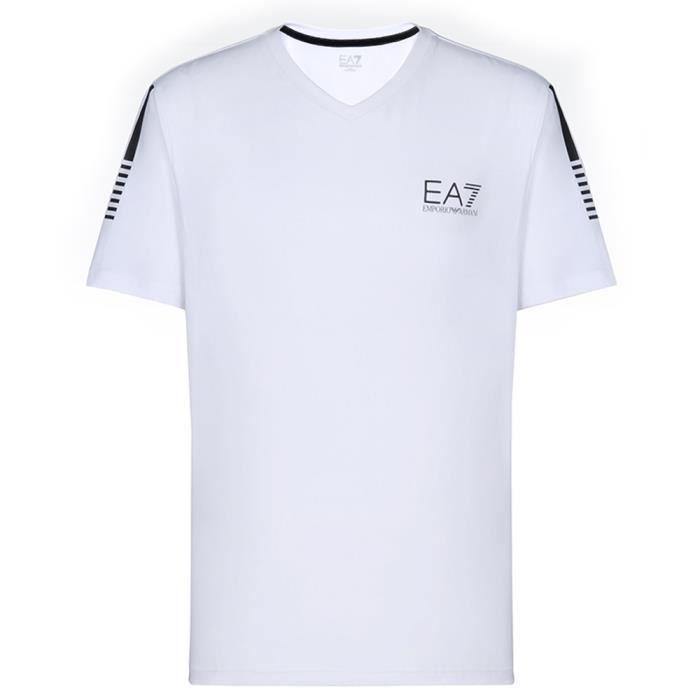 T-shirt HOMME EA7 Emporio Armani BLANC ET