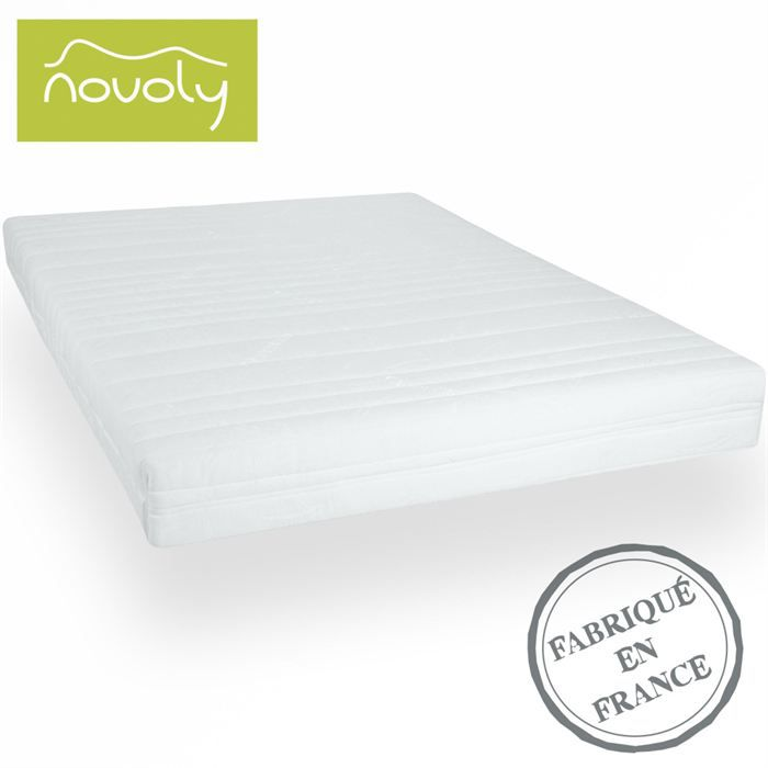 matelas latex 100 naturel 160x200 novopur achat. Black Bedroom Furniture Sets. Home Design Ideas