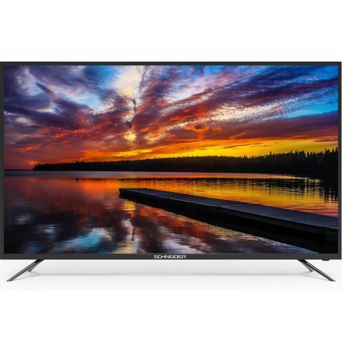 "Téléviseur LED SCHNEIDER -LED55-SC1000K TV LED 4K UHD -  55"" - Sm"