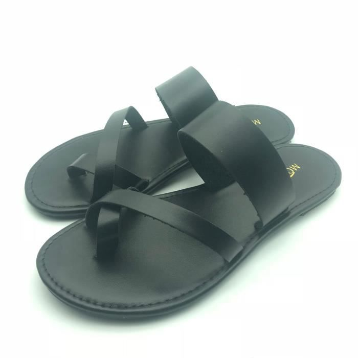 Gladiator Femmes Noir Shoes Flip xie Summer Sandals Flat Strappy 6698 Flops Ankle Casual Low 6ZTqUwSYx