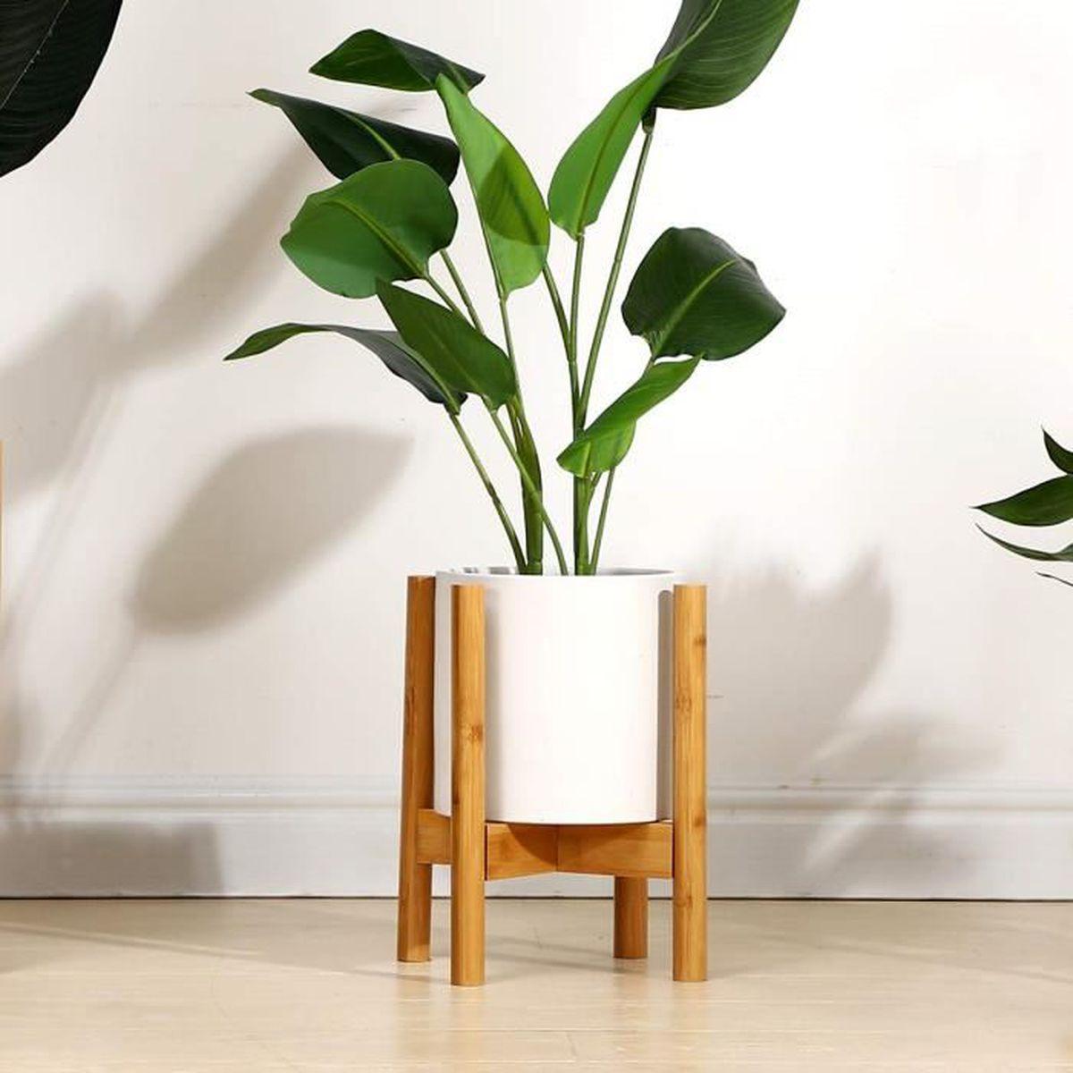 Pot Plante En Bois support pour plantes, présentoir de pot de fleur en bois