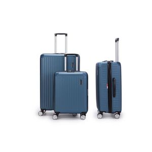SET DE VALISES LYS - lot de 3 Valises bleu Rigide ABS trolley 4 R